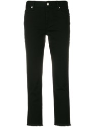 Burberry Cropped Jeans Cotton Polyester Spandex Elastane Black