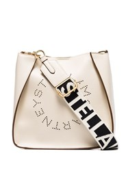 Stella Mccartney Logo Crossbody Bag White