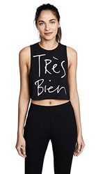 Chrldr Tres Bien Crop Top Black