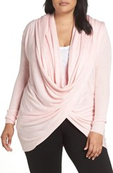 Nordstrom Plus Size Lingerie Wrap Front Cardigan Pink Crystal Heather