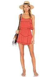Lovers Friends Paradise Bay Dress Rust