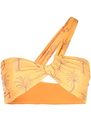 Onia Claire One Shoulder Bikini Top Orange