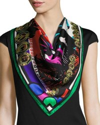 Versace Circular Abstract Foulard Scarf Multi