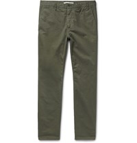 Norse Projects Aros Slim Fit Cotton Twill Chinos Army Green