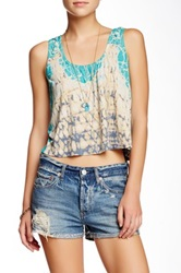 Gypsy05 Tie Dye Crop Tank Blue