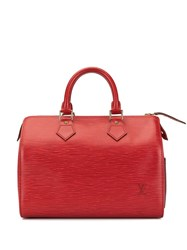 Louis Vuitton Pre Owned 1995 Speedy 25 Tote Red