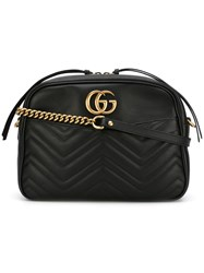 Gucci Gg Marmont Structured Shoulder Bag Black