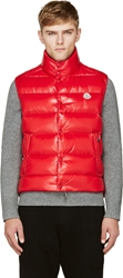 Moncler Red Tib Down Vest