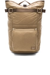 Porter Yoshida And Co. Draft Backpack Beige