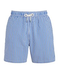 Hackett London Stripe Swim Shorts Blue