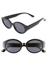 Bp. 50Mm Oval Sunglasses Black