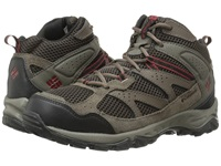 Columbia Plains Ridge Mid Cordovan Red Dahlia Men's Hiking Boots Brown