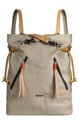 Sherpani Tempest Canvas Convertible Backpack Beige Natural