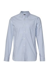 French Connection Men's Connery Oxford Stripe Shirt Blue