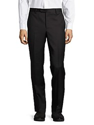 Saks Fifth Avenue Made In Italy Italian Structured Wool Pants Charcoal