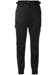 Jeremy Scott Cropped Trousers With Pockets Acetate Viscose Black
