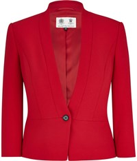 Austin Reed Red Crepe Tailored Jacket