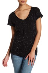 14Th And Union Space Dye V Neck Tee Petite Black