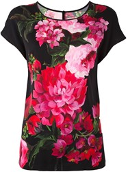 Dolce And Gabbana Flower Print Blouse Black
