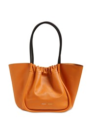 Proenza Schouler Large Smooth Leather Tote Bag Ochre