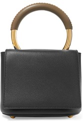 Marni Pannier Textured Leather Tote Black