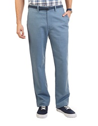 Nautica Linen Cotton Pants Tide Blue