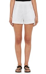 N Nicholas Women's Cotton Eyelet Shorts White