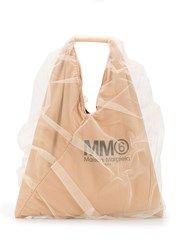 Maison Martin Margiela Mm6 Japanese Tulle Tote Bag Neutrals
