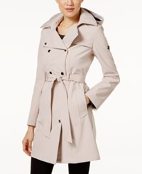 Calvin Klein Hooded Belted Raincoat Blush