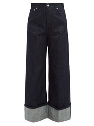 J.W.Anderson Jw Anderson Turn Up Wide Leg Jeans Indigo