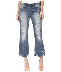 Blank Nyc Distressed Novelty Denim In Train Wrecked Train Wrecked Women's Jeans Blue