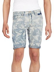 Buffalo David Bitton Six X Fern Print Jean Shorts Discharged