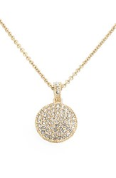 Women's Judith Jack Reversible Pave Pendant Necklace Gold Disc