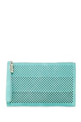 Carlos By Carlos Santana Mila Large Perforated Clutch Green