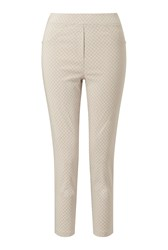 James Lakeland Cropped Patterened Trousers Beige