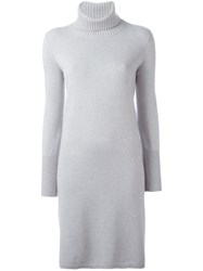 Fabiana Filippi Turtleneck Knit Dress Grey