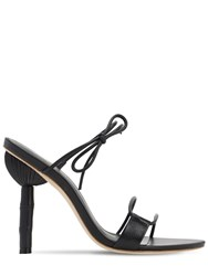 Cult Gaia 100Mm Malia Leather Sandals Black