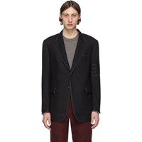 Thom Browne Black Wool 4 Bar Blazer