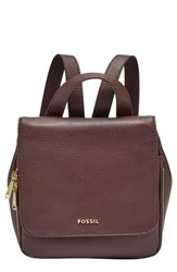 Fossil 'Small Preston' Leather Backpack