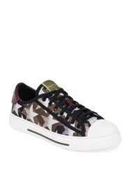 Valentino Camustars Lace Up Sneakers Army Green