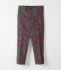 Vivienne Westwood Cropped George Trousers Minicheck Pinocchio Print Minicheck With Pinocchio Print