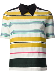 Antonio Marras Stripe Polo Shirt Black