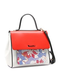 Braccialini Chiara Leather Satchel Red