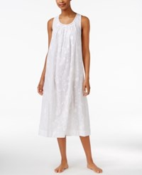 Charter Club Lace Trimmed Embroidered Nightgown Only At Macy's Bright White