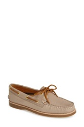 Sperry 'Authentic Original Gold Cup' Leather Boat Shoe Women Gray