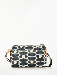 Orla Kiely Flower Stem Small Cross Body Bag Indigo