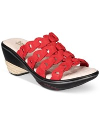 Jambu Women's Romance Comfort Wedges Women's Shoes Red