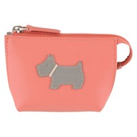 Radley Heritage Dog Small Leather Coin Purse Orange