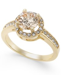 Charter Club Gold Tone Pave Halo Ring Only At Macy's