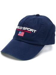 Polo Ralph Lauren Sport Embroidered Baseball Cap Blue